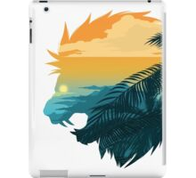 Angry lion from the jungle iPad Case/Skin