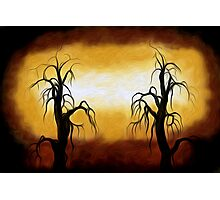 Abstract Trees Oil Painting #10 Photographic Print