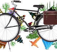 Global Bicycle round the world - save the planet design by Atanas Bozhikov