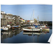 Mevagissey Harbour Poster
