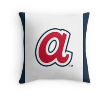 Atlanta Braves lower case A Throw Pillow