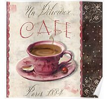 Patisserie Damask Coffee Cup Poster