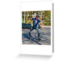 Dutch Rollerblader Greeting Card