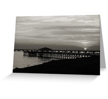 sunset point in black and white Greeting Card