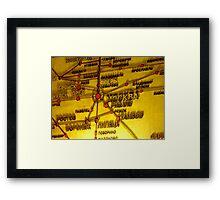 Railway Map Framed Print
