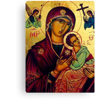 picture of the madonna - St Matthews Church, Grantham Canvas Print