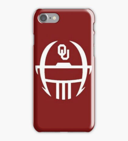 Oklahoma Sooners Minimal helmet design iPhone Case/Skin