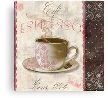 Patisserie Espresso Coffee Cup Canvas Print