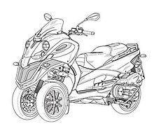 Scooter Design Patent Drawings by devalpatrick
