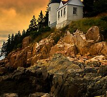 Bass Harbor Head Light by Kathy Weaver