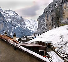 Log cabins and Chalets, Lauterbrunnen, Switzerland by buttonpresser