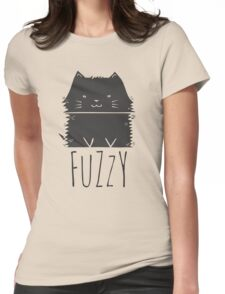fuzzy cat Womens Fitted T-Shirt