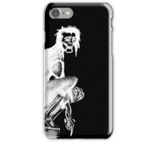 Gothic Gargoyle Perch (full alpha in white) iPhone Case/Skin