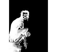 Gothic Gargoyle Perch (full alpha in white) Photographic Print