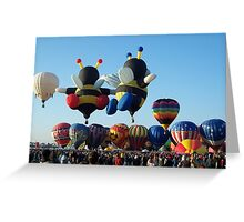 Balloons in Love Greeting Card