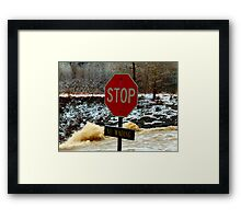 Bad Day To Wade Framed Print