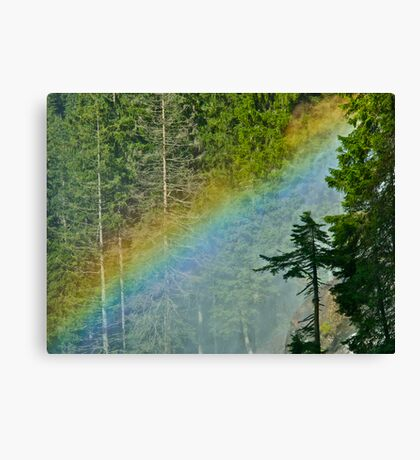 Europe`s Highest Waterfalls . Krimml Waterfalls  . Austria. by Brown Sugar . Views(85) with Embarrarssment !!!  or  Woooows ? made in Brown Sugar . Canvas Print