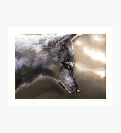 Wolf Profile 3-A Art Print