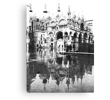 ST  MARK  FLOODS  IN B/W Canvas Print
