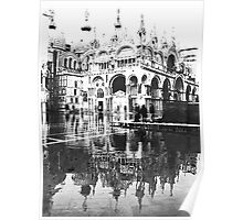 ST  MARK  FLOODS  IN B/W Poster