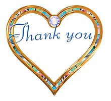 Thank you, gratitude in heart Photographic Print