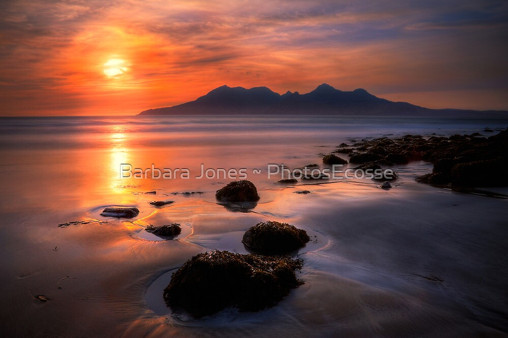 Sunset from Bay of Laig, Isle of Eigg, Scotland. by photosecosse /barbara jones