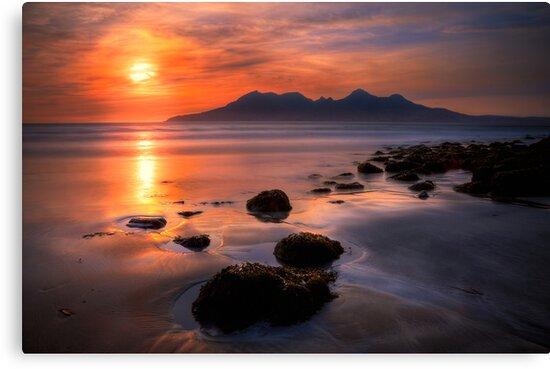 Sunset from Bay of Laig, Isle of Eigg, Scotland. by photosecosse /barbara jones