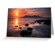 Sunset from Bay of Laig, Isle of Eigg, Scotland. Greeting Card