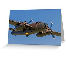 B-25J Mitchell 42-32511 PH-XXV 'Sarinah' lowdown Greeting Card