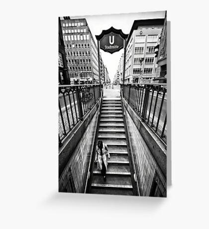 Berlin - Urban Core   03 Greeting Card
