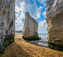 Lone stack at Botany Bay, Kent by Luke Farmer