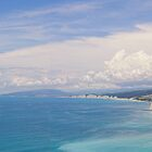 Deep blue. Panoramic sea landscape. by Vanger