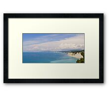 Deep blue. Panoramic sea landscape. Framed Print