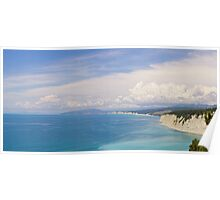 Deep blue. Panoramic sea landscape. Poster