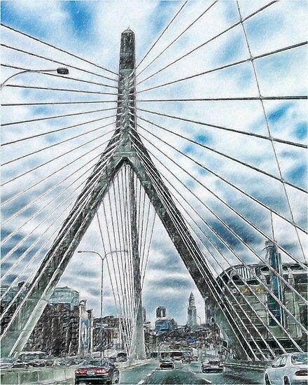 The Leonard P. Zakim Bunker Hill Memorial Bridge by bbrisk
