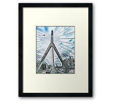 The Leonard P. Zakim Bunker Hill Memorial Bridge Framed Print