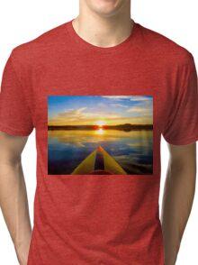 Kayaking Sunrise Tri-blend T-Shirt