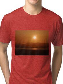 Honey Coloured Donegal Hills - Ireland Tri-blend T-Shirt
