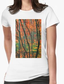 TREES,AUTUMN Womens Fitted T-Shirt