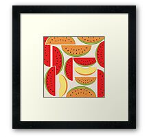 Watermelons Colorful Vector Illustration Framed Print
