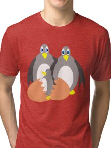 Penguin Surprise Tri-blend T-Shirt