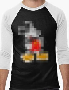 Pixel M (too much TV is bad for your eyes!) Men's Baseball ¾ T-Shirt