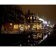 NIGHT REFLECTION AMSTERDAM Photographic Print