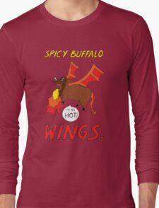 Spicy Buffalo Wings Long Sleeve T-Shirt