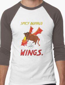 Spicy Buffalo Wings Men's Baseball ¾ T-Shirt
