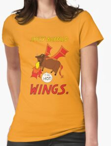 Spicy Buffalo Wings Womens Fitted T-Shirt