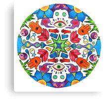 Colored Pencil Mandala Canvas Print