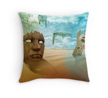 Sureal desert Throw Pillow
