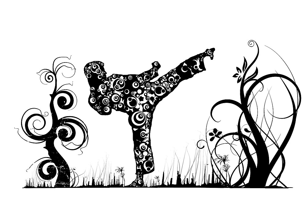 Martial Arts Kick by Steve's Fun Designs