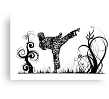 Martial Arts Kick Canvas Print